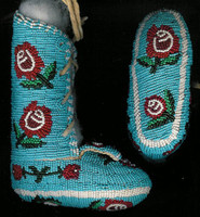 Native American Indian Style Baby Burial Moccasins