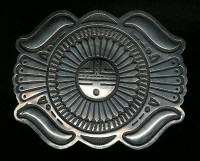 BELT BUCKLE NAVAJO SILVER SUNFACE Emerson SOLD