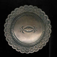 BELT BUCKLE NAVAJO SILVER CONCHO SOLD