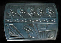 BELT BUCKLE HOPI SILVER KOKOPELLI Dawn Lucus SOLD