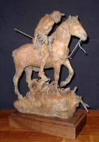 "BRONZE Jack Muir ""Blackfoot Hunter"" SOLD"