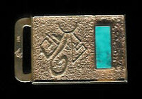 BELT BUCKLE HOPI GOLD TURQUOISE Don Supplee