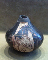 Pottery Santa Clara Scraffito Incised Dragonfly Horse Dusty Naranjo SOLD