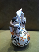Pottery Acoma Polychrome Storyteller Wedding Vase Judy Lewis