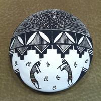 Pottery Acoma Fine Line Kokopelli Seed Pot Daniel Lucario SOLD