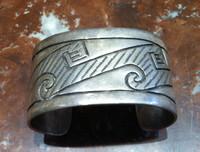 Bracelet 1940's Hopi Overlay Pawn Bracelet Douglas Holmes