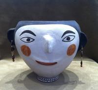 Pottery Acoma Polychrome Face Pot Rare Old Unique Frances Torivio SOLD