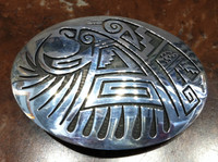 BELT BUCKLE HOPI EAGLE MOTIF Mitchell Sockyma SOLD