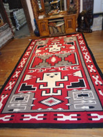 Navajo Indian Rug Red Ganado Pawn 1950-60's SOLD
