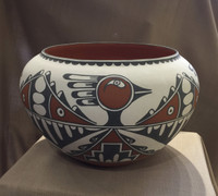 POTTERY JEMEZ SAN FELIPE LARGE POLYCHROME Mary Small SOLD