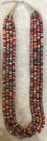 SANTO DOMINGO RARE ORANGE SPINY OYSTER SHELL 4 STRAND NECKLACE 6 KEN AGUILAR SOLD