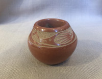 POTTERY SAN ILDEFONSO RARE RED INCISED SGRAFFITO AVANYU POT TONY DA SOLD
