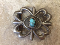BELT BUCKLES NAVAJO TURQUOISE SILVER SANDCAST