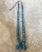 NECKLACES BEADS SANTO DOMINGO JOCLA TURQUOISE HEISHI GRADUATED ONE STRAND