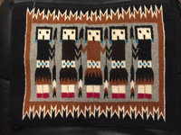 Navajo Native American Yei Rug Matilda Platero_8