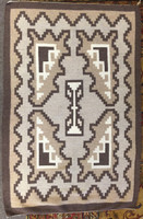 NAVAJO INDIAN WEAVING TWO GREY HILLS RUG SOLD