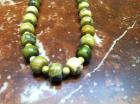 SANTO DOMINGO GREEN TURQUOISE NECKLACE KEN AGUILAR SOLD