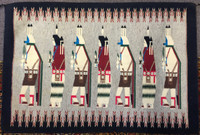 NAVAJO INDIAN RUG YEI-BI-CHAI IOA BENALLY SOLD
