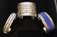 BRACELETS SILVER NAVAJO CUFF EXTRA WIDE EXTRA HEAVY EXTRA LARGE 8.5 MENS BRACELET BRUCE MORGAN