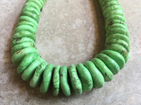BEADS ONE STRAND GRADUATED LIGHTER GREEN AUSTRALIAN GASPEITE JEWELRY NECKLACE
