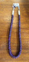 "1990'S PUEBLO MADE NATURAL SOUTH AFRICAN SUGILITE GRADUATED 20"" NECKLACE"