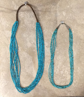 SANTO DOMINGO 7 STRAND TURQUOISE HEISHI NECKLACE