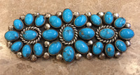 HORIZONTAL PIN CLUSTER OVAL TURQUOISE SHAPES JEANETTE DALE