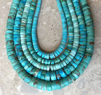 TURQUOISE HEISHI CHOKER NECKLACES SANTO DOMINGO RAY LOVATO-5 SOLD
