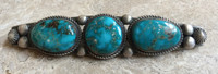 PIN NAVAJO BLUE GEM TURQUOISE STERLING STERLING SILVER CALVIN MARTINEZ