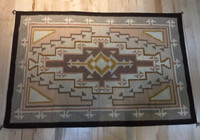"""TWO GREY HILLS PASTEL FINE NAVAJO WEAVING 47 1/2""""H X 70""""W TAUPE PEACH BROWN CE8"""
