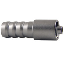 MLL to 8mm Hose End (Plated Brass) (Individual)