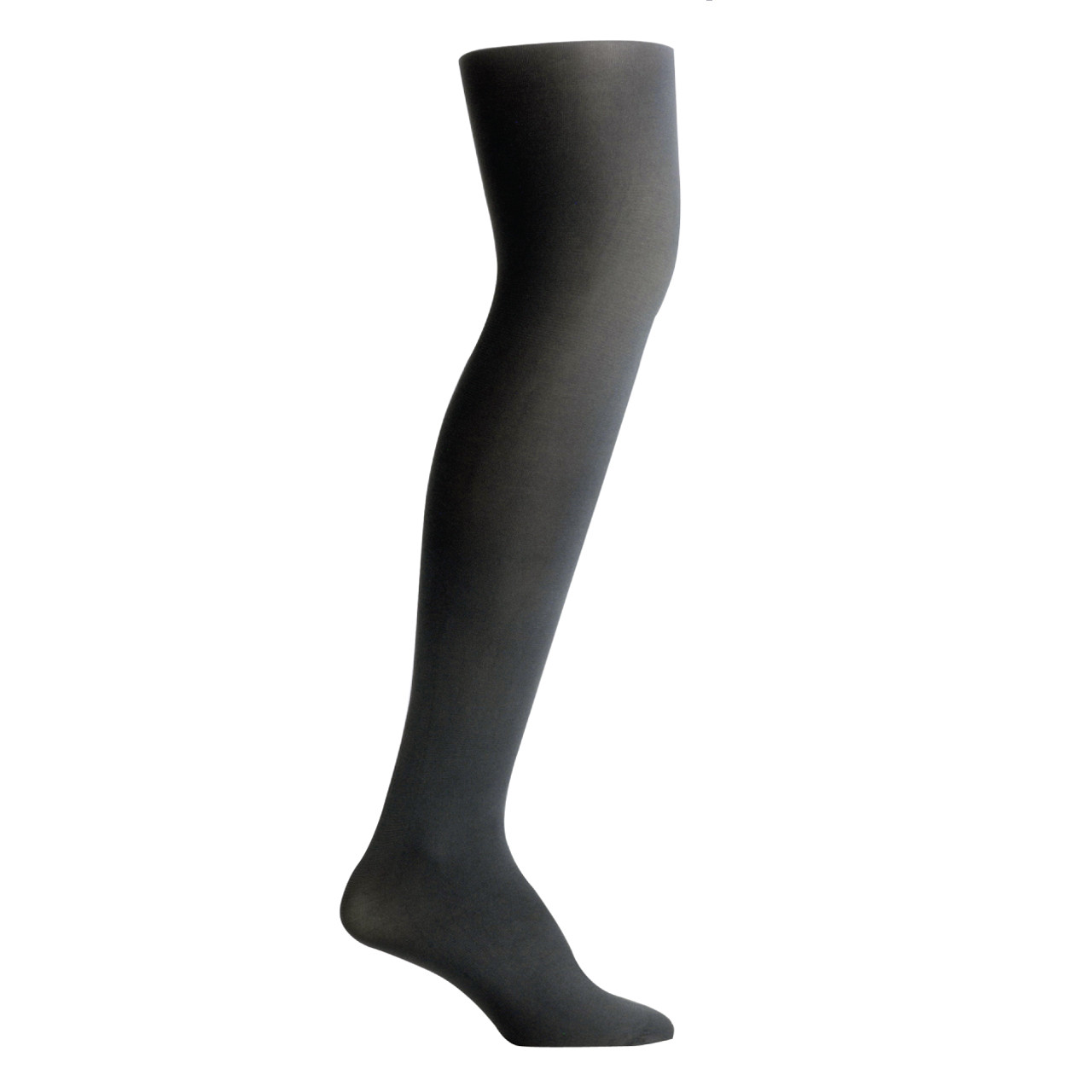 18fe227f1 ... Nylon Opaque Tights with Cotton Gusset - College Grey. Image 1