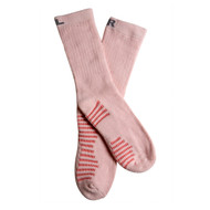 Benefeet Women's PK1 Rose scented Aromatherapy cotton crew socks with massaging soles and Aloe Vera - Pink