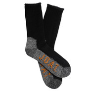 Jack Of All Trades Men's PK1 Warm Wool socks for outdoor, work and play - Black