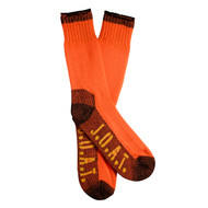 Jack Of All Trades Men's PK1 Sustainable Bamboo socks for outdoor, work and play - Fluro Orange