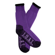 Jack Of All Trades Women's PK1 Sustainable Bamboo socks for outdoor, work and play - Purple