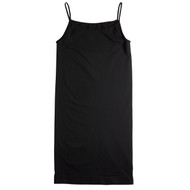 Sock Café Body PK1 Seamless Shoe String Singlet Slip Dress - Black