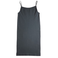 Sock Café Body PK1 Seamless Shoe String Singlet Slip Dress - Charcoal