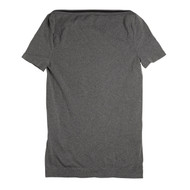 Sock Café Body PK1 Seamless Boat Neck T Shirt with Cap Sleeve - Grey Marle