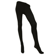 Sock Café Womens PK1 Micro Wool 200 Denier Opaque Tights - Black