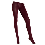 Sock Café Womens PK1 3 Dimensional 120 Denier Opaque Tights - Bordeaux