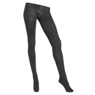 Sock Café Womens PK1 Mini Cable 80 Denier Textured Tights - Charcoal