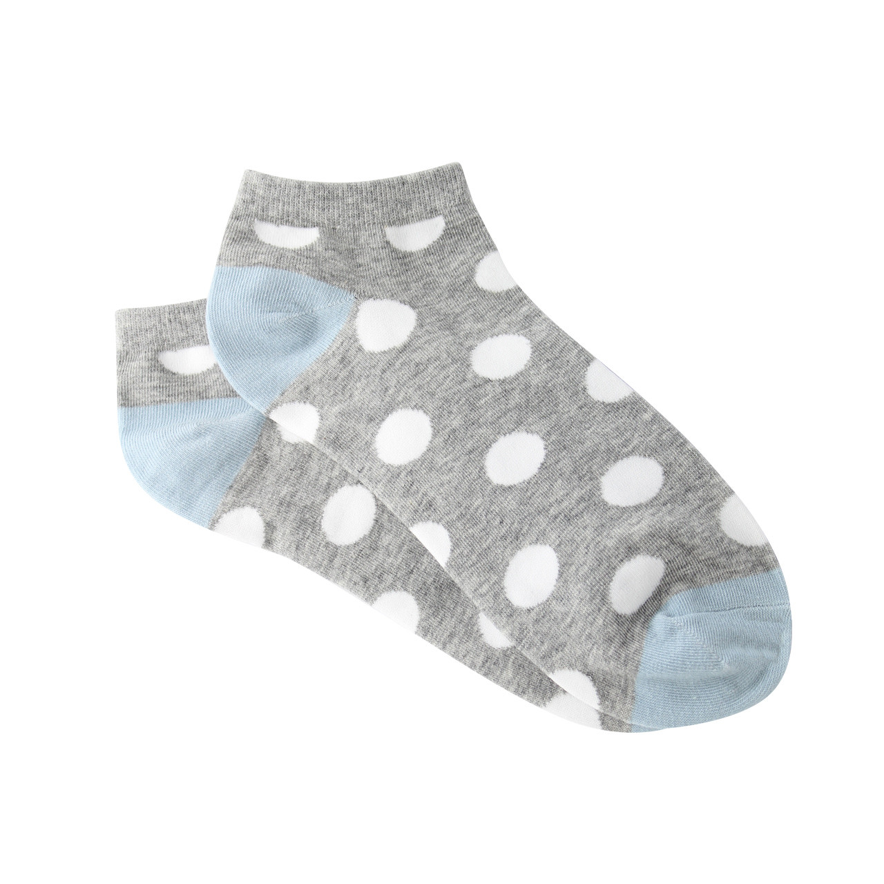 f9077823bcb804 ... Sock Cafe Women's PK1 Mode Spot Cotton Low Cut - Grey Marle and Mineral  Blue. Image 1