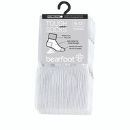 Bearfoot Children's PK3 Tough Anklets cotton school socks with turn top cuff, reinforced heel & toe and Silverplus - White