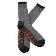 Jack Of All Trades Men's PK1 Comfort Cotton socks for outdoor, work and play - Grey/Twisted