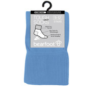 Bearfoot Children's PK3 Tough Anklets cotton school socks with turn top cuff, reinforced heel & toe and Silverplus - Saxe