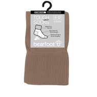 Bearfoot Children's PK3 Tough Anklets cotton school socks with turn top cuff, reinforced heel & toe and Silverplus - Fawn