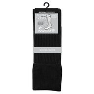 Bearfoot Children's PK3 Tough Knee High cotton school socks with turn top cuff, reinforced heel & toe and Silverplus - Black