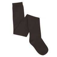 Bearfoot Girl's PK2 Cotton Rich Opaque Winter Weight Tights - Chocolate