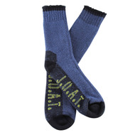 Jack Of All Trades Men's PK1 Sustainable Bamboo socks for outdoor, work and play - Denim/Twisted
